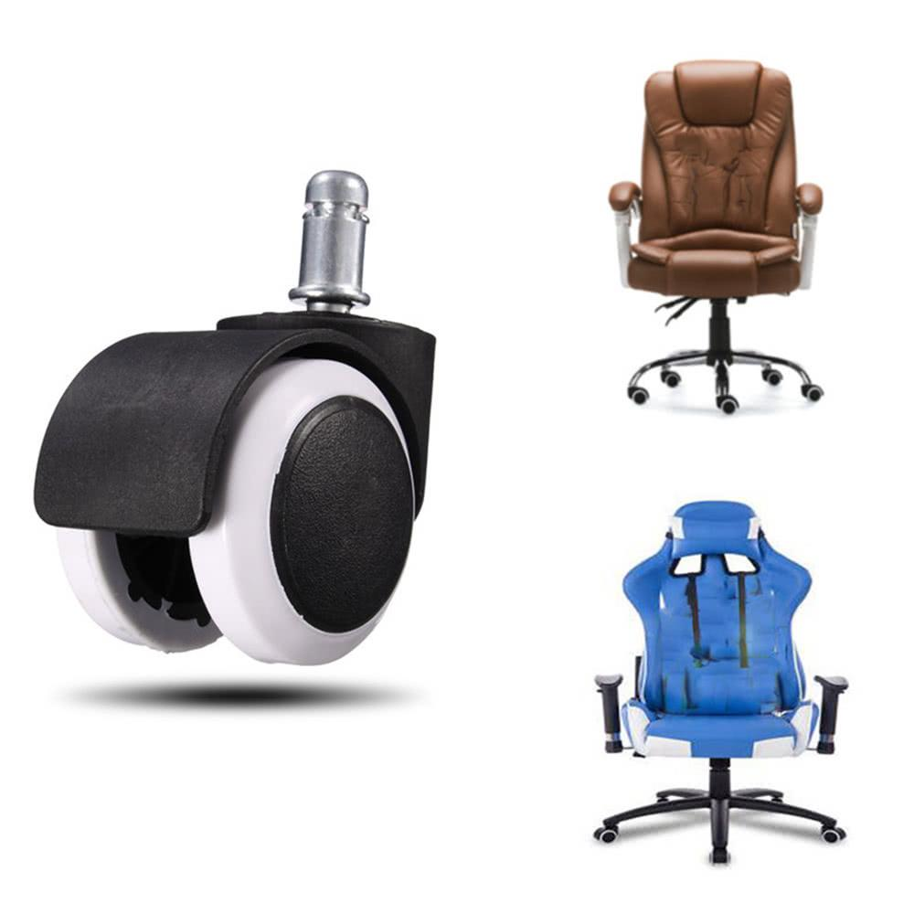 office chair replacement wheels beach chairs costco 2019 h19436 1 2 5 heavy duty caster wheel swivel rubber protecting hard wood floor home furniture pack from noryzhou