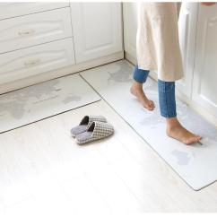 Kitchen Floor Mats Faucets Moen 45x75cm 45x150cmlong Mat Waterproof Oil Proof Anti Skid Carpet Home Fouling Pvc Leather Material Outdoor Sofa Replacement Cushions