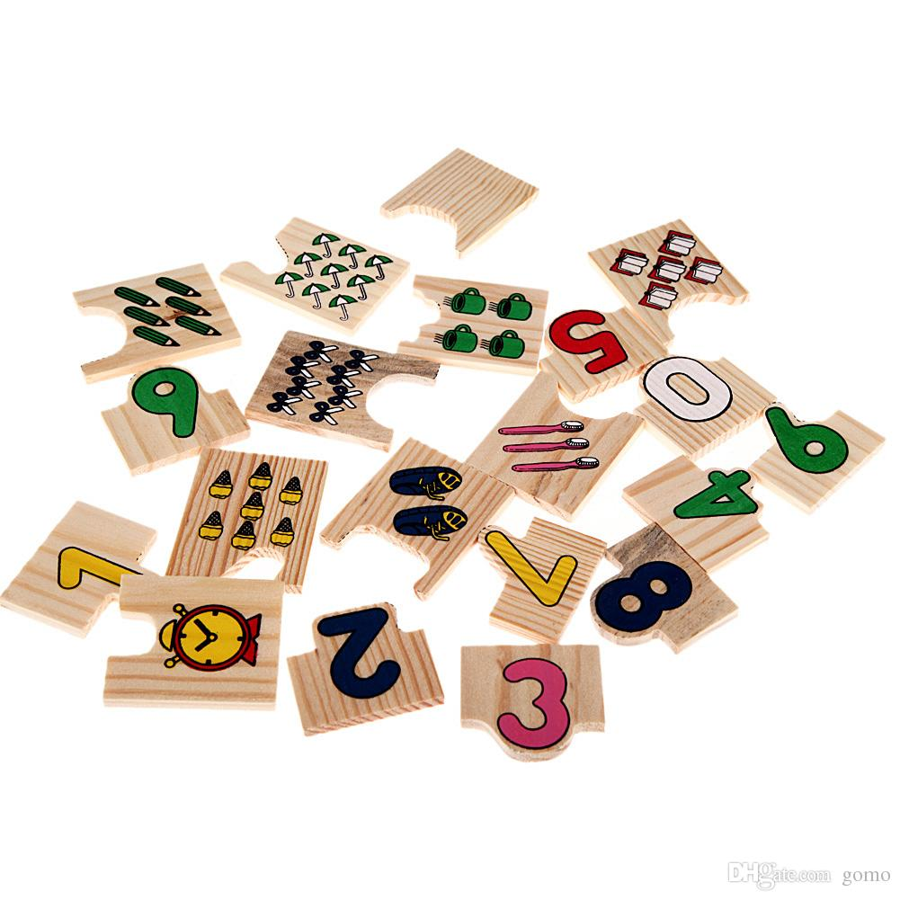wooden number counting puzzle
