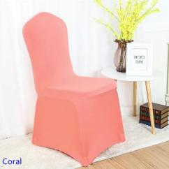 Quality Dining Room Chair Covers Office Under 1000 Spandex Cover Coral Colour Flat Front Lycra Stretch Banquet For Wedding Decoration Wholesale On Sale Black Seat