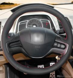 1 diy mewant black artificial leather steering wheel cover wrap for honda civic 8 civic 2006 2007 2008 2 spoke car wheel cover car wheel covers from  [ 1200 x 1200 Pixel ]