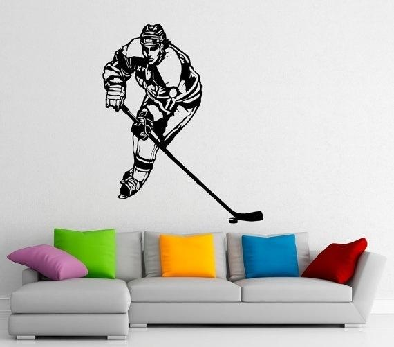 hockey wall sticker decal stickers and mural for nursery kid s room