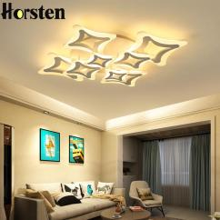 Living Room Lighting Fixtures Built In Shelves Led Ceiling Lights For Bedroom Decoration Ac110 240v Acrylic Lamp Shade Dimming Lamps Canada 2019 From Lightlight