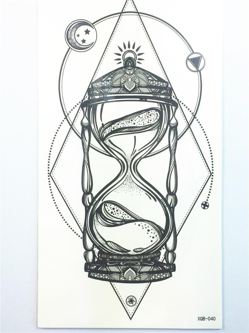 Hermosa Sexy Tatuagem Tattoo Body Art Reloj De Arena Tatuaje