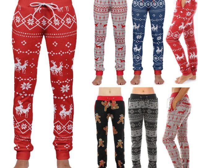 Winter Family Matching Christmas Pajamas Pants Men Womens Sleepwear Nightwear Pants Women Men Cotton Long Sleep Bottoms From Griseldala