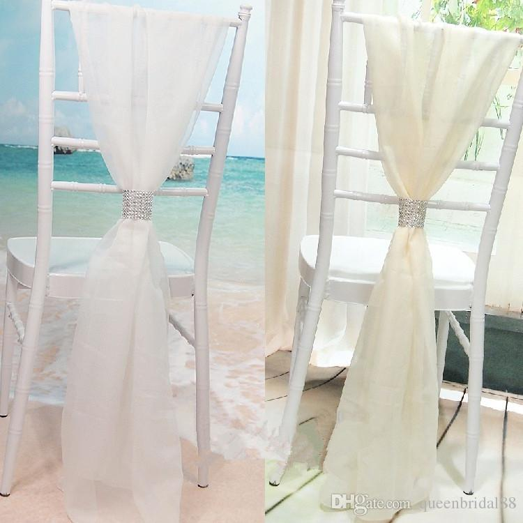 chair covers ivory nilkamal plastic price in india 2019 chic 2018 white sashes for weddings party with buckle wedding bridal bamboo decoration from queenbridal88