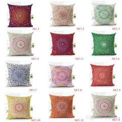 Chair Pad Covers Online India Silver Organza Sashes Mandala Pillow Case Comfortable Colorful Pizzle Psychedelic Indian Geometry Pattern Travel Polyester