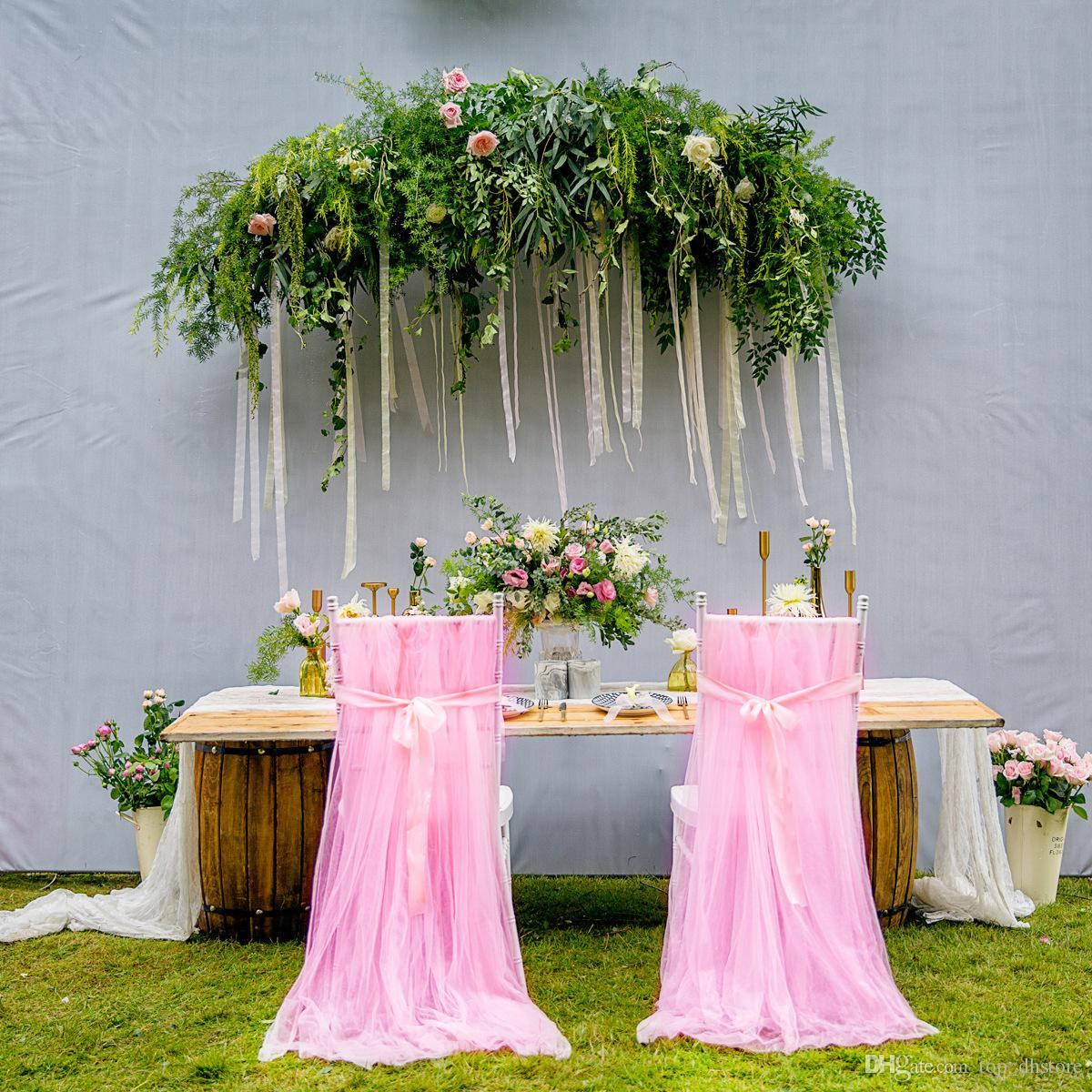 chair covers pink narrow high white wedding chiffon cover 2 6 1 6m seat with sashes supplies wcs01 banquet rental