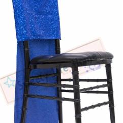 Royal Blue Chair Covers Banquet Chairs With Arms Nice Sequin Chiavari Glitz Slub Caps Events Decorations Rental For