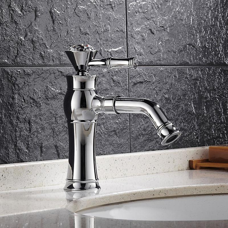 antique kitchen faucets tile home depot 2019 brass polished silver crystal basin faucet single handle hole sink mixer tap hot cold water from hibooth