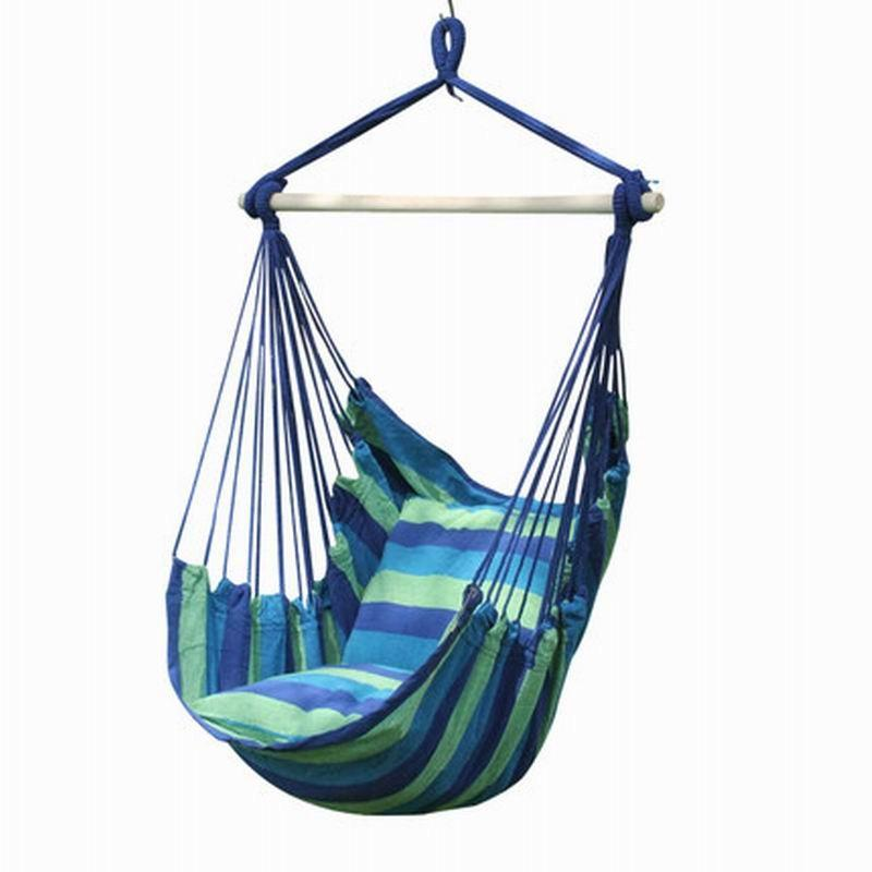 hanging chair rope bean bag chairs near me 2019 cotton fabric outdoor yard indoor tree hammock splicing color from kids show 43 22 dhgate com