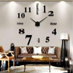Living Room Decorative Accessories Green And Yellow Home Decoration Modern Wall Clock Farmhouse Decor Nightmare Before Christmas Big Clocks For Kitchen