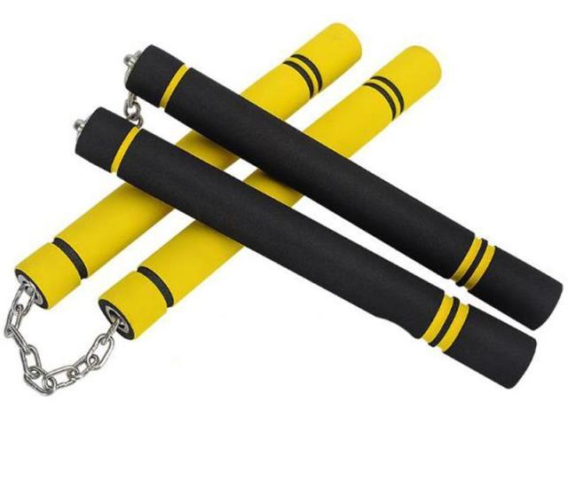 New Pvc Sponge Nunchucks Bruce Lee Martial Arts Supplies Foam Nunchakus Beginner Practice Performance Kung Fu Nunchakus From Outdoorsports