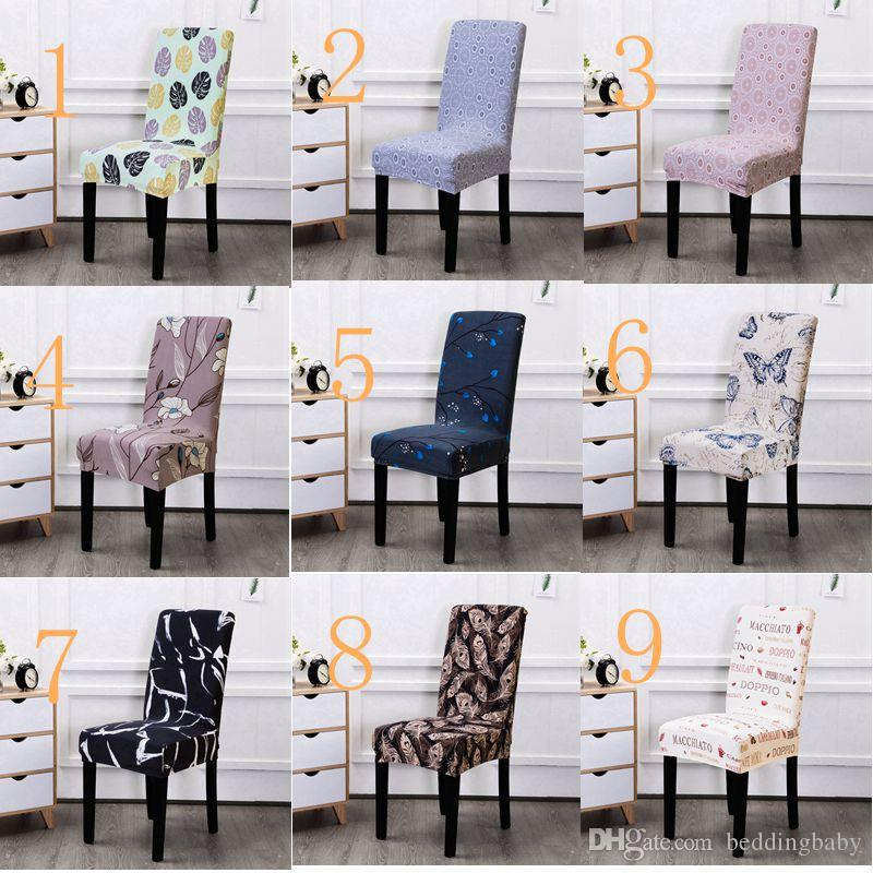 dining chair covers for home overstock leather club chairs spandex stretch feather printed coves elastic seat painting slipcovers restaurant banquet hotel decoration buy wedding