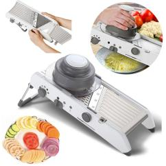 Kitchen Mandoline Lighting Over Island Adjustable Multifunctional Vegetable Slicer Professional Grater Stainless Steel Blade Tools Food Potato 2019 From Suozhi1994