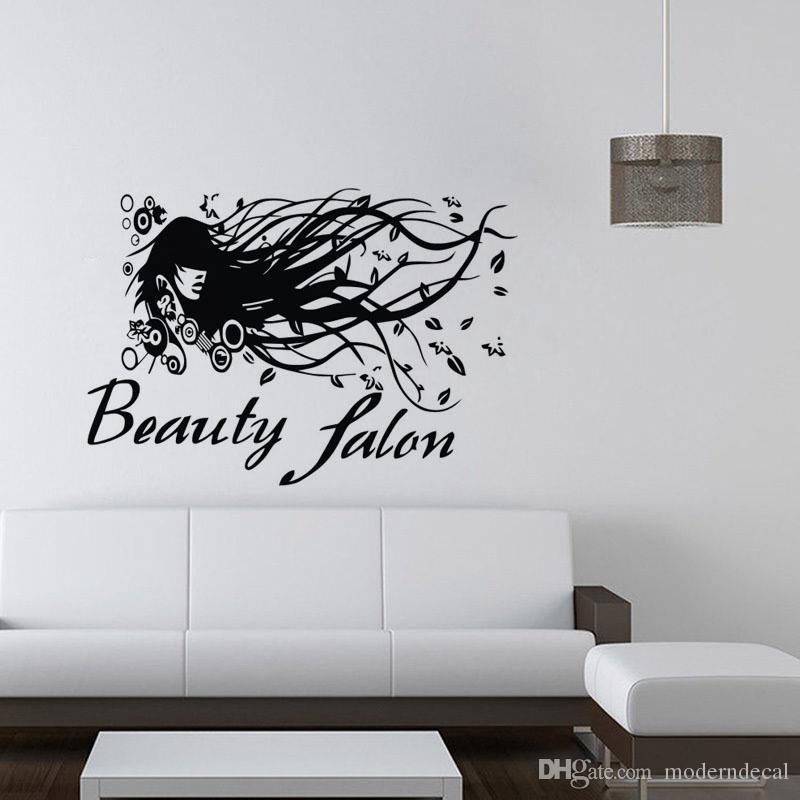 Beauty Salon Wall Stickers Decoration Self Adhesive Film Wallpaper