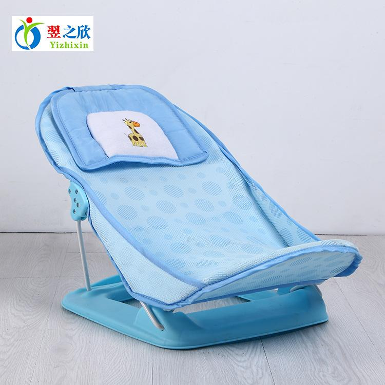 baby chair bath high that attaches to 2019 foldable tub bed pad bathtub shelf shower nets newborn seat infant support from callshe 74 48 dhgate com