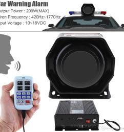 12v 200w 9 tone loud car warning alarm police siren horn speaker with mic system aep 10g cheap car stereo speakers cheap car stereo system from agileauto  [ 1000 x 1000 Pixel ]