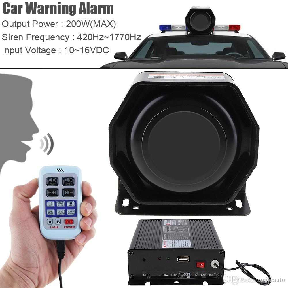 medium resolution of 12v 200w 9 tone loud car warning alarm police siren horn speaker with mic system aep 10g cheap car stereo speakers cheap car stereo system from agileauto