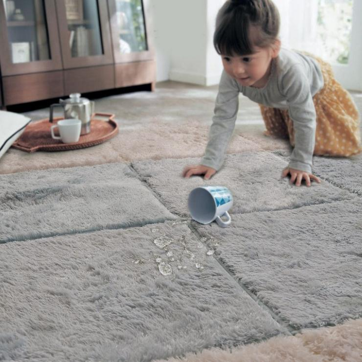 living room blanket holder inspiration grey sofa long hair carpet door mat puzzle baby crawling cutting area rug kids play tatami mosaic floor throw and
