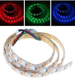5v 1m rgb led strip light lamp red green blue smd 5050 60 leds for christmas party home decoration background lighting led strip dmx connecting led strips  [ 990 x 990 Pixel ]