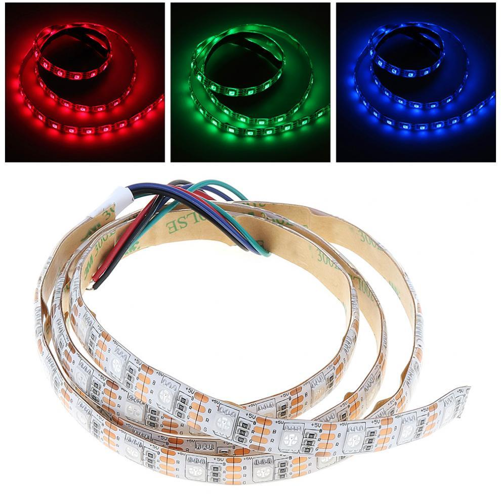 medium resolution of 5v 1m rgb led strip light lamp red green blue smd 5050 60 leds for christmas party home decoration background lighting led strip dmx connecting led strips
