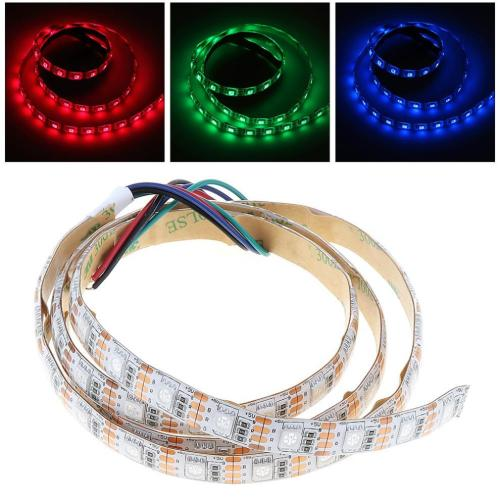 small resolution of 5v 1m rgb led strip light lamp red green blue smd 5050 60 leds for christmas party home decoration background lighting led strip dmx connecting led strips