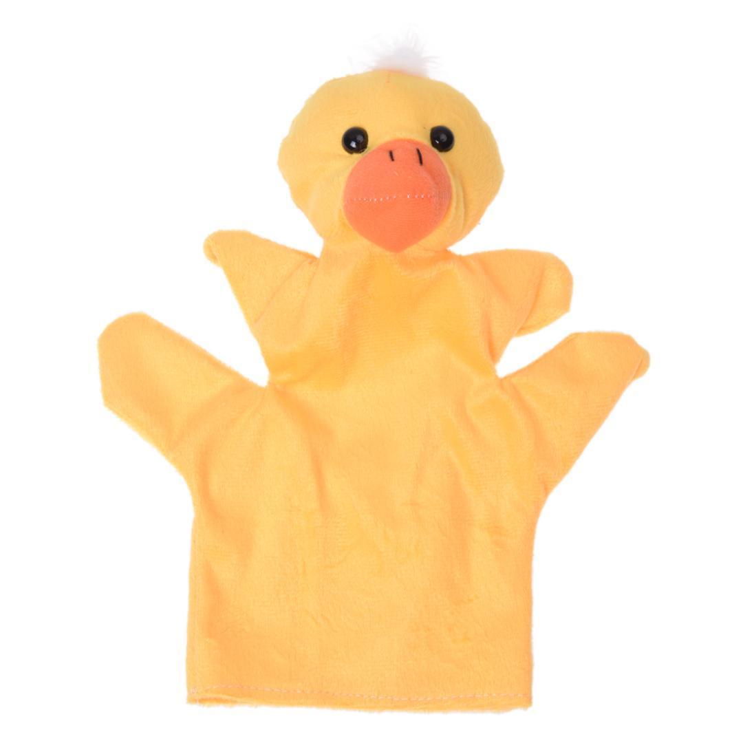 yellow duck hand puppet