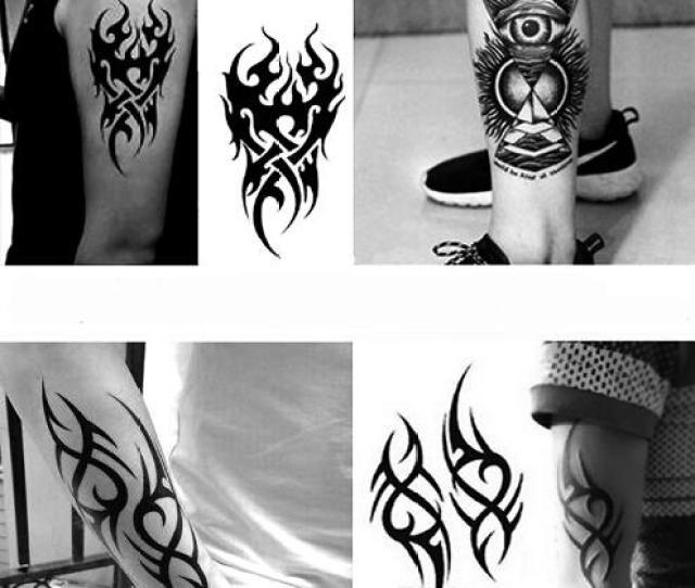 Waterproof Temporary Tattoo Mens Fire Tatoo Eagle Eye Flame Totem Water Transfer Fake Tatto For Man Temporary Tattoo Removal Temporary Tattoo Singapore