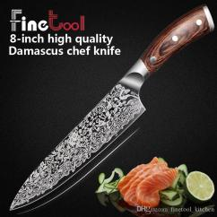 Professional Kitchen Knives Chef Design Knife 8 Inch Japanese 7cr17 440c High Carbon Stainless Steel Meat Santoku Micarta Handle Best Rated