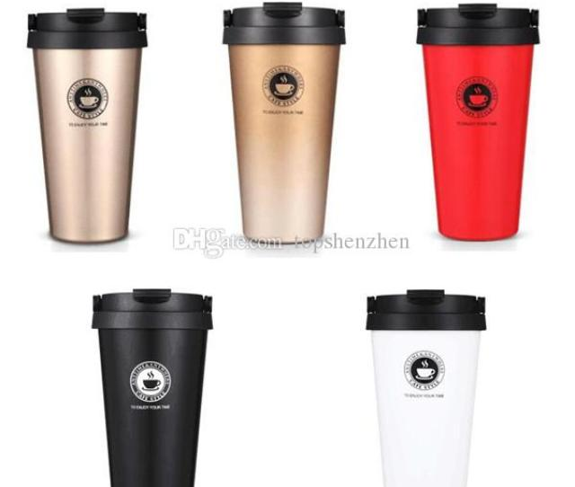 Oz Vacuum Insulated Travel Coffee Mug Ml Fashion Stainless Steel Tumbler Sweat Tea Cup Thermos Flask Water Bottle