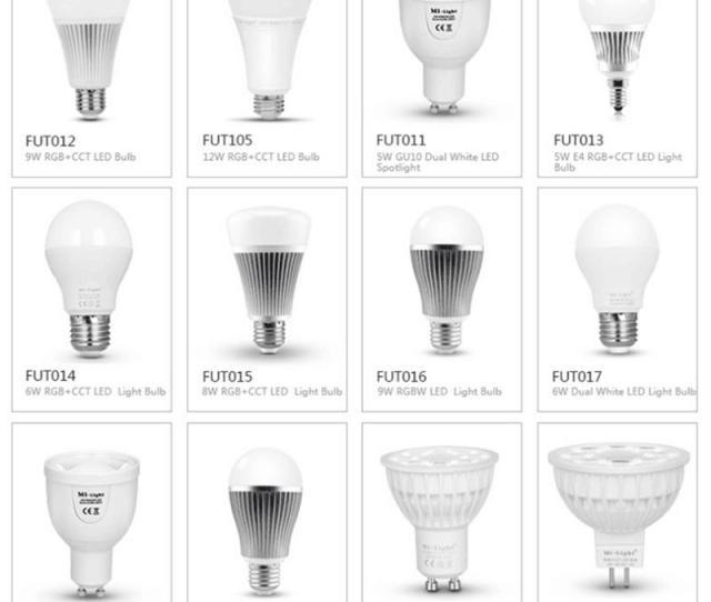 Original Milight Led Bulbs 4w 5w 6w 9w Gu10 E27 E14 Rgbw Rgbww Lamp Wireless Control Wifi 4zone 2 4g Rf Remote Controller Full Spectrum Light Bulbs Led Bulb