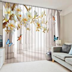 Window Curtains Living Room Traduzione In Italiano 2019 European Style 3d Flower Blackout Curtain Roman Home Wall Tapestry Decorative Shade Drapes From Kunnylight