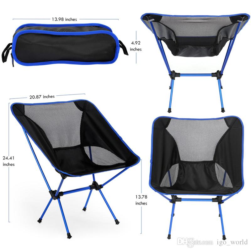 fishing chair lightweight wood frame accent chairs for outdoors home travel folding seat protable furniture easy carry resting 4 colors camp