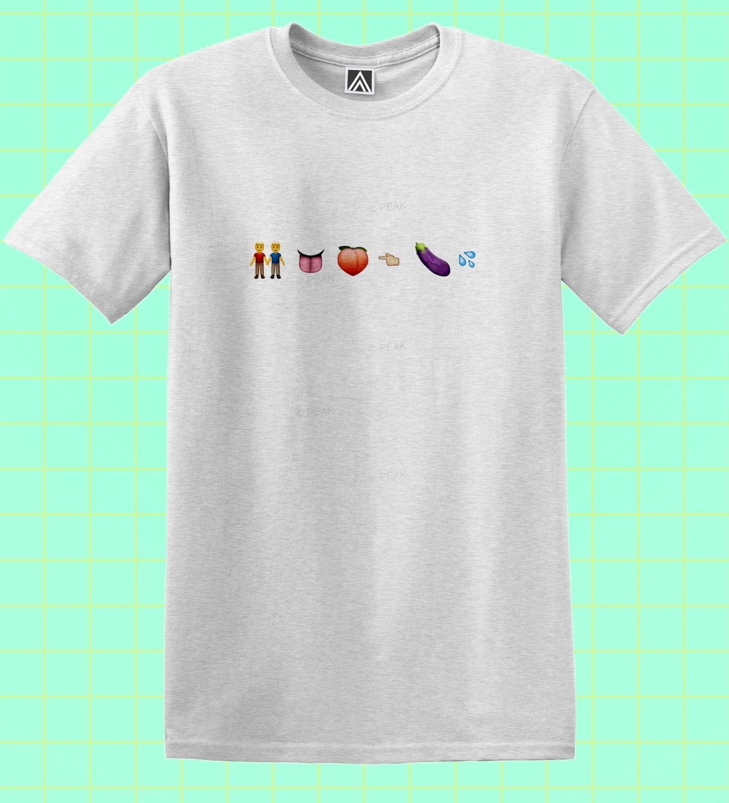Compre Detalles Zu Gay Emoji Camiseta Pride Lgbt Tee Mardi Gras