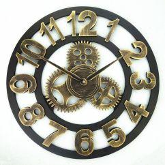 Wooden Kitchen Clock And Bath Remodel New Modern Loft Silence Wall 40cm Roman Arabic Numeral Clocks Creative Mechanical Design Horloge Home Decor Supplier