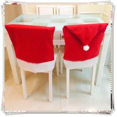 Holiday Decorative Chair Covers Lazy Boy Accent Chairs Christmas Party Santa Claus Table Red Hats Back 1 Pc Jpg