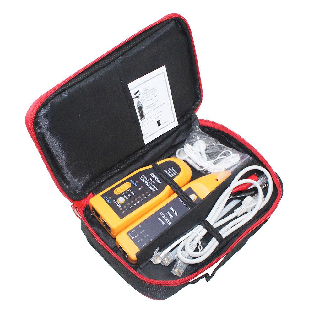 hight resolution of retail package wh806b telephone wire tracker network cable tester for cat5 cat5e cat6 rj45 rj11 electrical line finding testing network bandwidth monitor