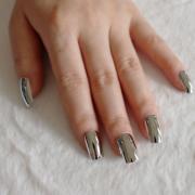 metal mirror fake nails acrylic
