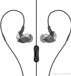 mobile phone connection headphones enter ear type male and female general purpose creative noise reduction headset can receive phone two col cell phone  [ 960 x 960 Pixel ]