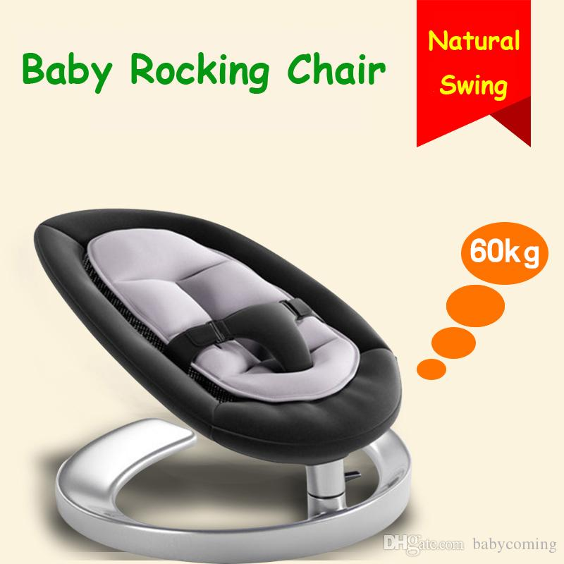 baby rocker chair folding leg floor protectors rocking for 0 7 years old kids infant swing cradle inexpensive black wood from