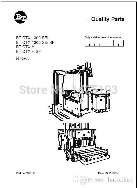 Toyota BT Forklifts Spare Parts Catalog PDF 2012 Ecu