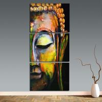2018 Wall Art 3 Panels Buddha Wall Pictures For Living ...