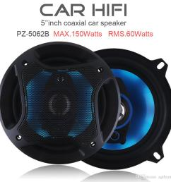 5 inch 150w 3 way car coaxial horn subwoofer audio music stereo full range frequency hifi speakers non destructive installation cau 413 low price car audio  [ 1000 x 1000 Pixel ]