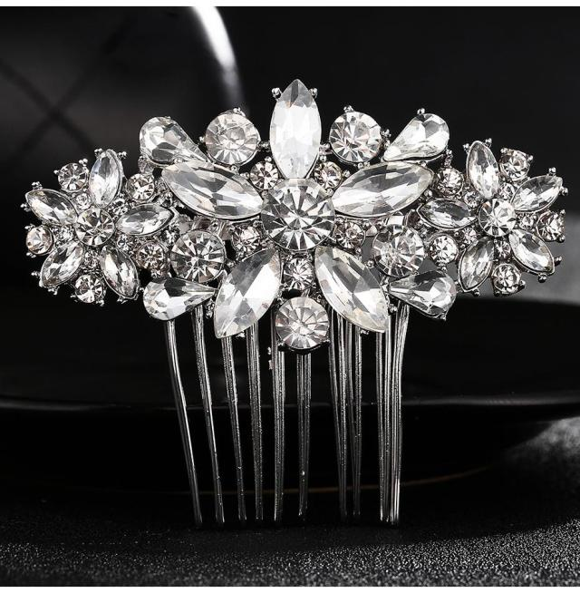full crystal rhinestone wedding bridal hair comb fashion diamante hair clips accessories bride wedding hair comb jch146