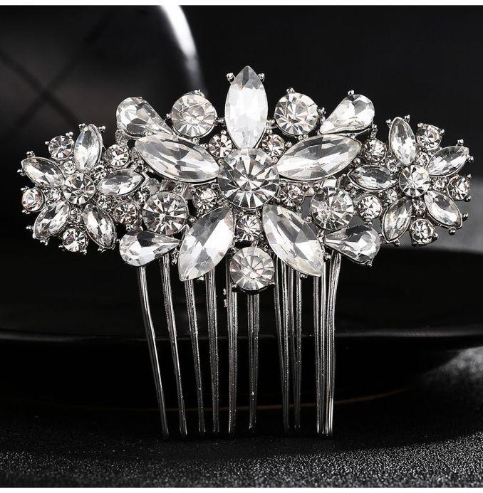 full crystal rhinestone wedding bridal hair comb fashion diamante hair clips accessories bride wedding hair comb jch146