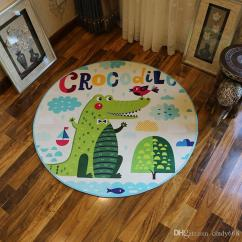 Swivel Chair On Carpet Black Covers Target 2019 Cloakroom Children S Room Computer Circular Cartoon Floor Mat Study Blue Ceiling Rugs For Kitchen Bedroom From