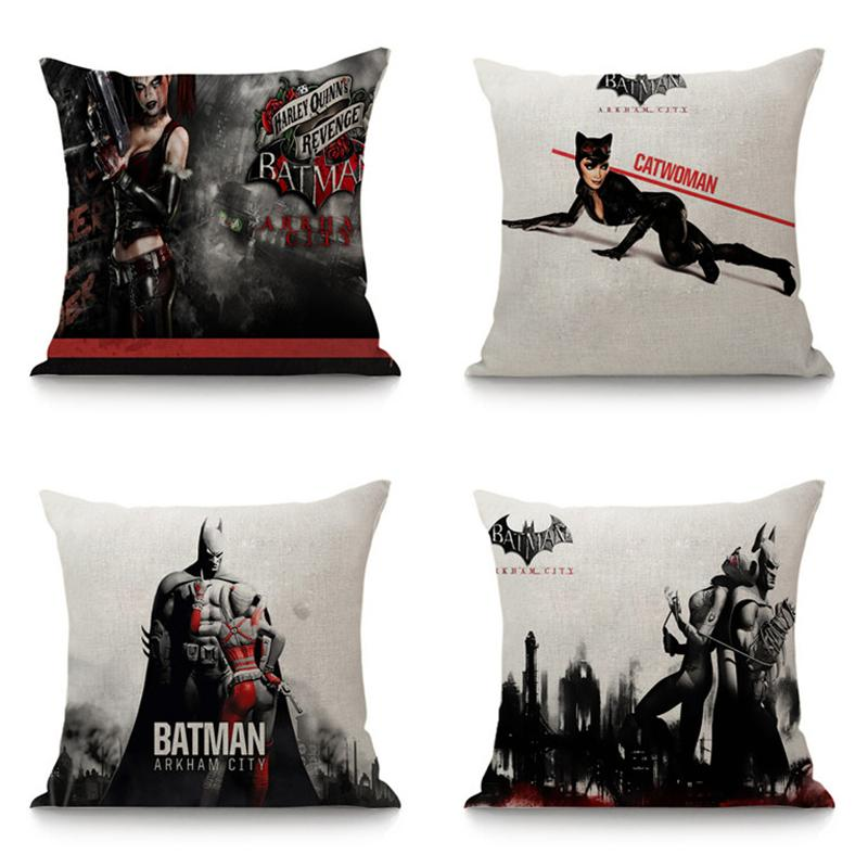 batman car chair 4 kitchen chairs joker seat cushion linen throw pillow 45x45 bedroom home decor decorative for sofa office square outdoor cushions on sale