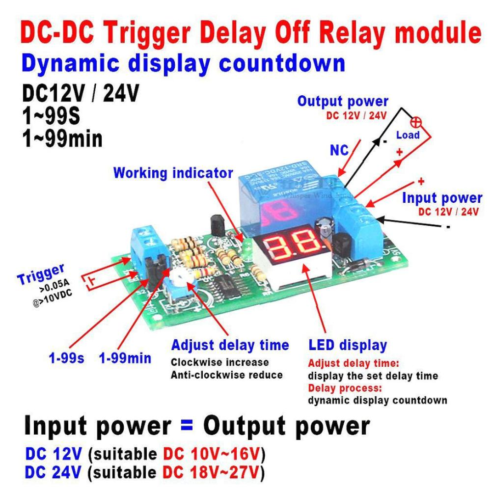 medium resolution of 2019 dc 12v led display digital delay timer control switch turn off relay module for car from zhenyuan666 18 34 dhgate com