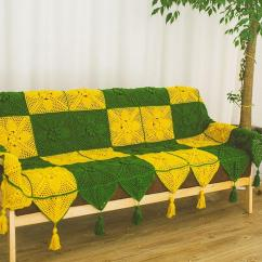 Sofa Cover Blankets Silver Sofas The Range Colorful Handmade Hook Flowers Cotton Lace Shabby Chic Crocheted Blanket Many Uses Green Yellow Unique Gifts Lion Throws Lavender